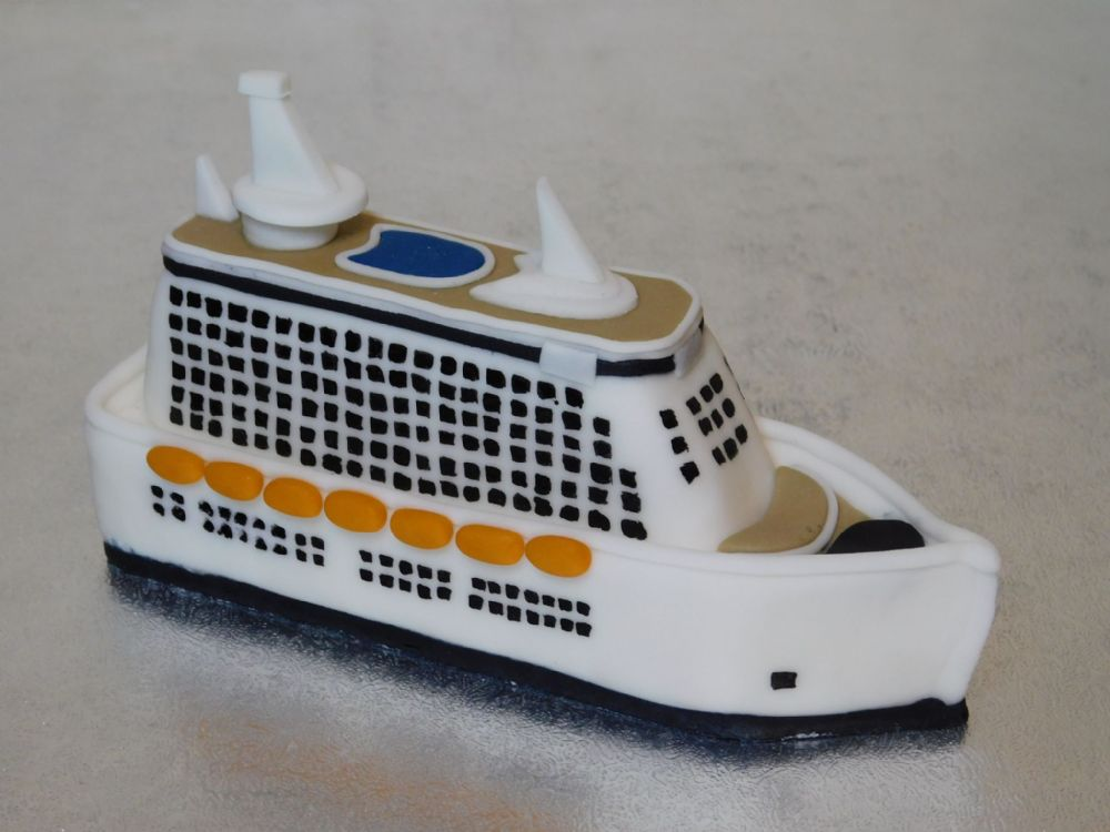 Cruise Ship Cake Topper